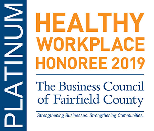 Healthy Workplace Platinum Honoree 2018 The Business Council of Fairfield County logo